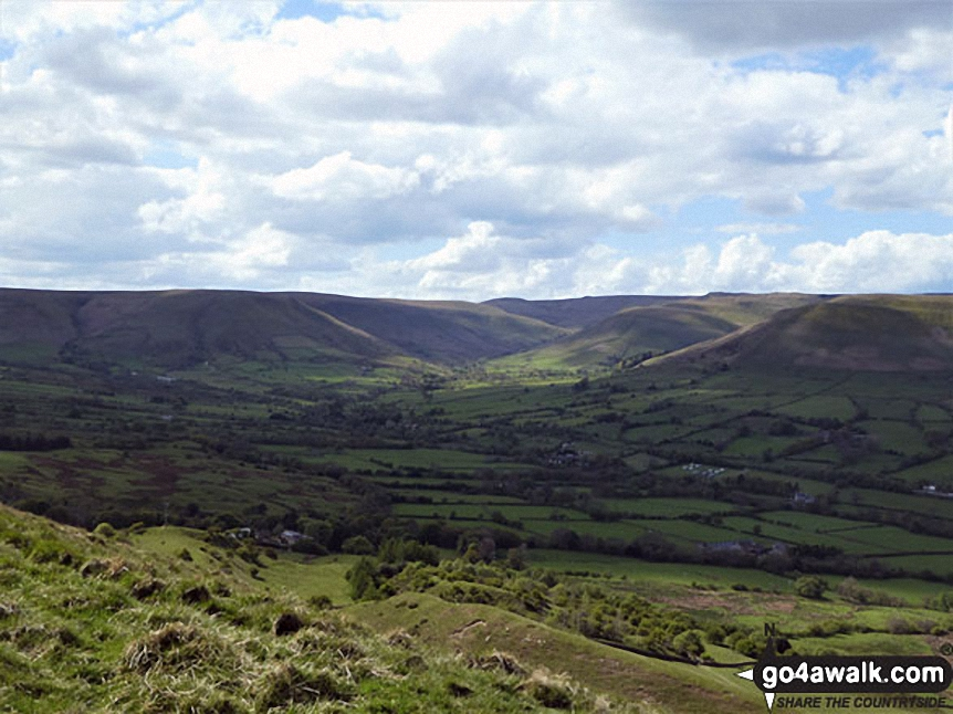 Looking towards Kinder Scout from Mam Tor