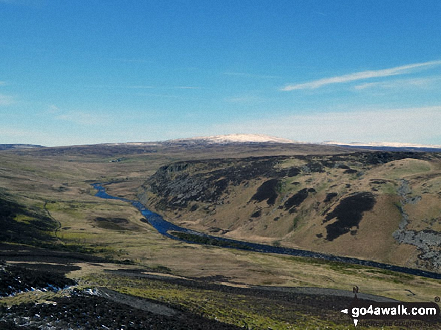 Falcom Clints and The Rever Tees from near White Well Green on Moor House (Cronkley Fell)