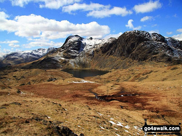 Pavey Ark, Stickle Tarn & Harrison Stickle from nr Blea Rigg