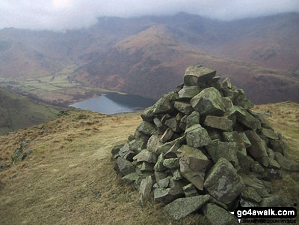 Brothers Water from Brock Crags. Walk route map c249 The Knott and Angletarn Pikes from Patterdale photo