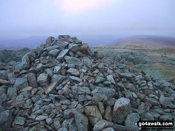 High Raise (Mardale) summit cairn. Walk route map c128 The Hayswater Round from Hartsop photo