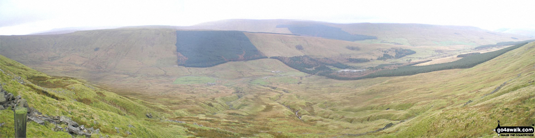 Widdale from The Pennine Way on the northern lower slopes of Dodd Fell Hill