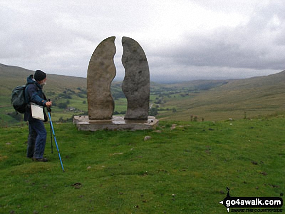The Water Cut Sculpture on Lady Anne's Way, Mallerstang Valley