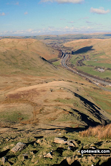 The M6 Motorway at Tebay from Grayrigg Pike (Grayrigg Forest)