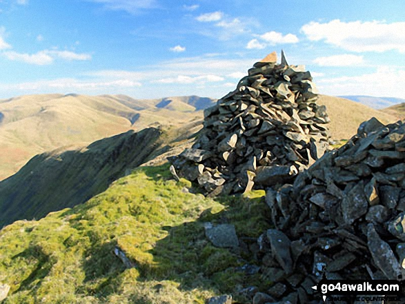 The cairn on the summit of Grayrigg Pike (Grayrigg Forest)