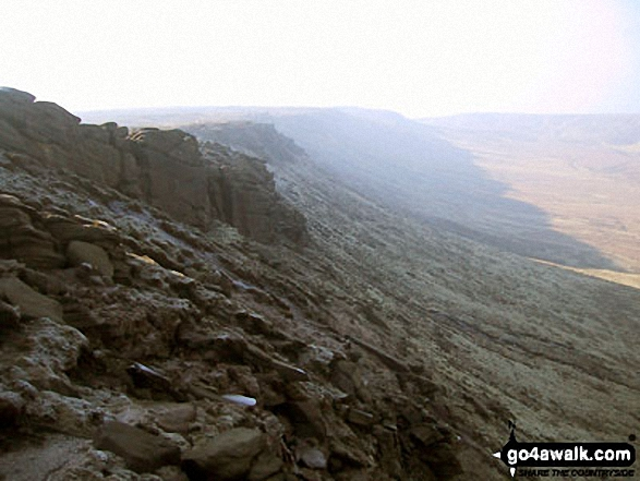 Looking West along The Edge (Kinder Scout)