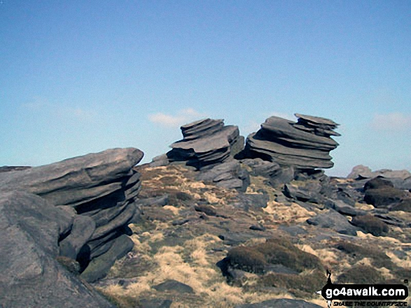 Rock sculptures on Fairbrook Naze (Kinder Scout)