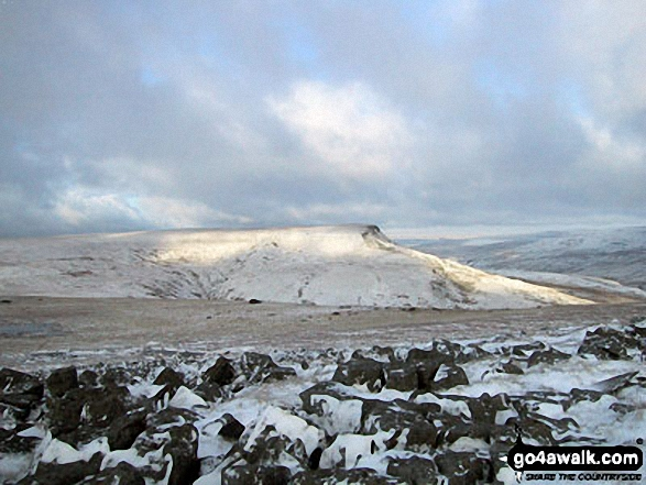 Wild Boar Fell from Swarth Fell in the snow