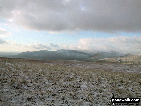The Howgill Fells from Wild Boar Fell in the snow
