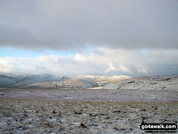 The Howgills from Wild Boar Fell in the snow