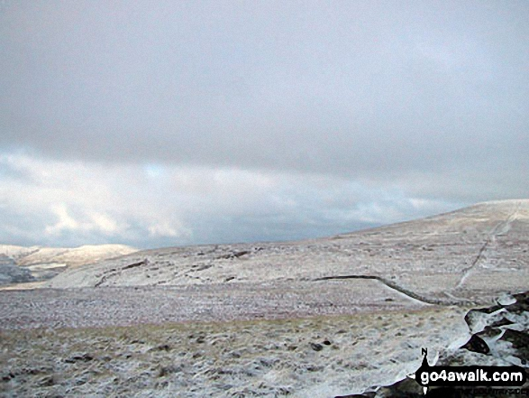 The Howgills (left) and Wild Boar Fell (right) from Swarth Fell in the snow
