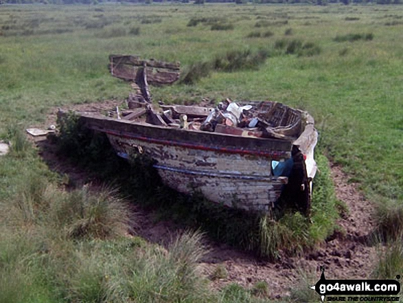Boat wreck - some distance inland from The River Arun between Burpham and Arundel