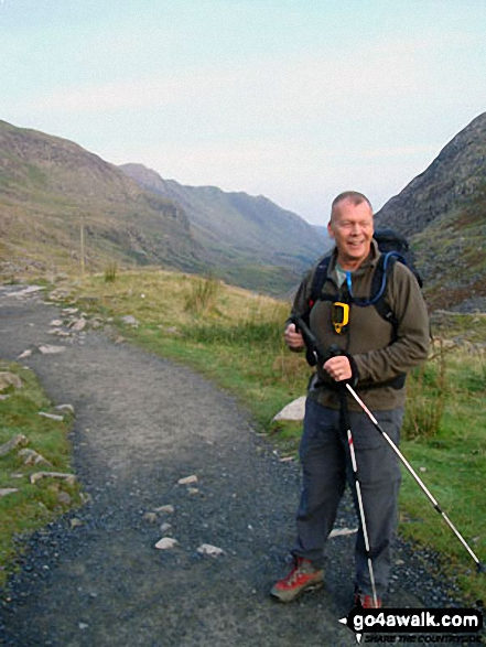 Vince Wetton on the PYG Track en-route to Snowdon<br>via Crib Goch in 2010