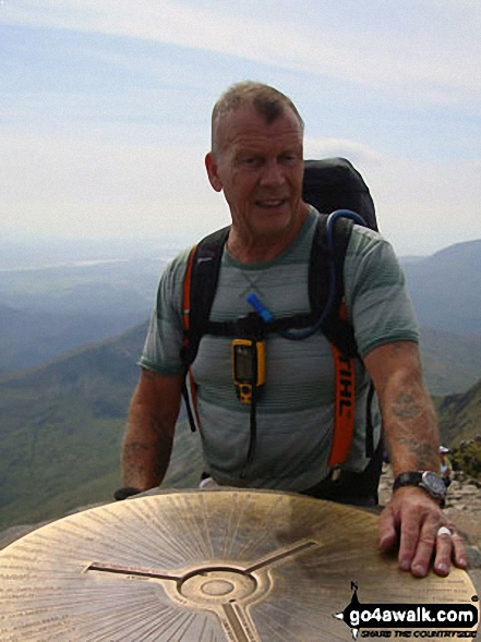 Vince Wetton on the summit of Snowdon (Yr Wyddfa) in 2010