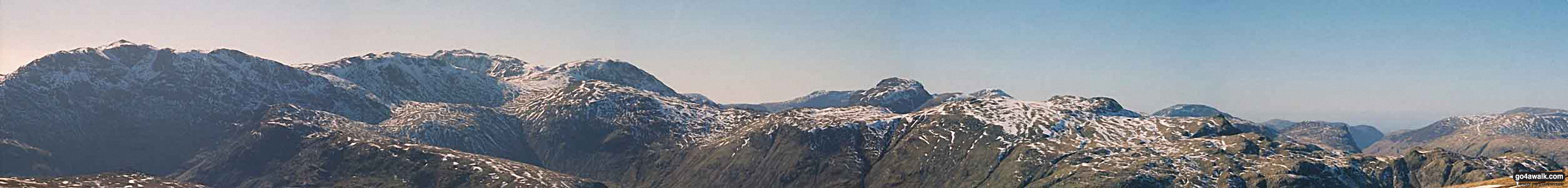 Panoramic Walk Photo: Bowfell, Esk Pike and (the end of) The Scafell Massif from Langdale The Southern Fells The Lake District National Park Cumbria England by Robert Withers (2)