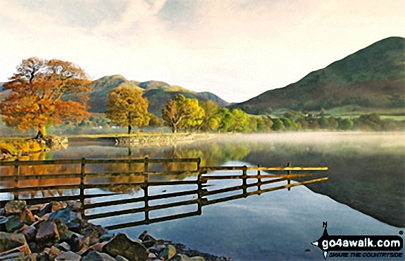 Buttermere. Walk route map c228 Hay Stacks from Buttermere photo