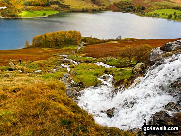 The view down Comb Beck as it flows towards Buttermere. Walk route map c228 Hay Stacks from Buttermere photo