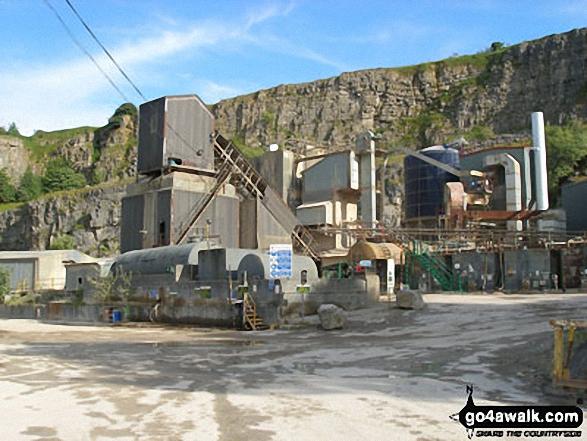 Walk d215 Longstone Edge, High Rake, Calver and Stoney Middleton from Eyam - Dalton Quarry in Middleton Dale near Stoney Middleton