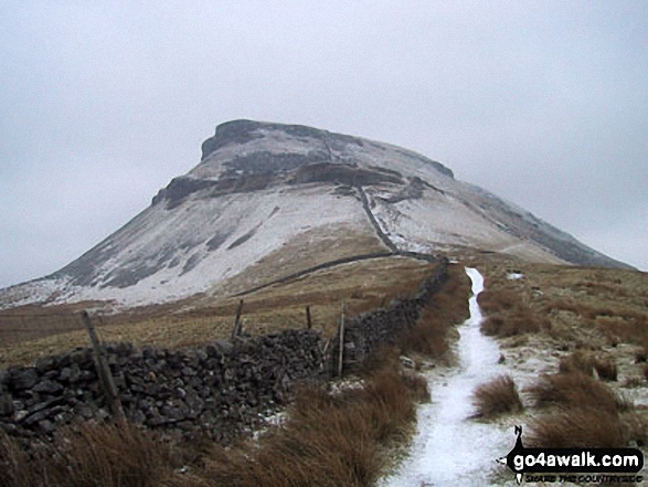 A snowy Pen-y-ghent from Dale Head