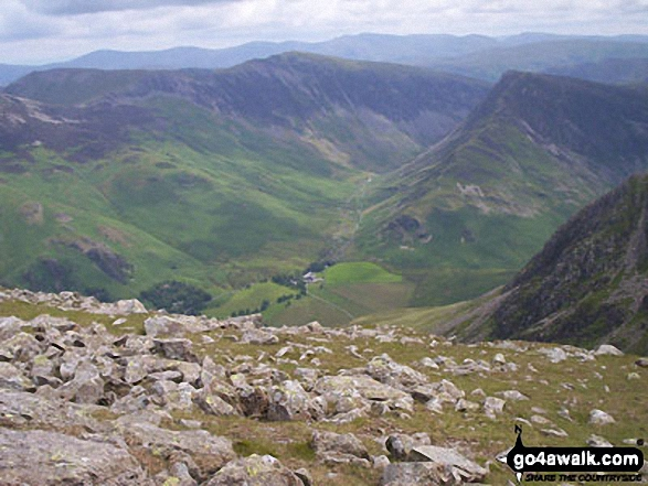 Gatesgarth and Fleetwith Pike (with Robinson and Dale Head (Newlands) beyond) from High Stile