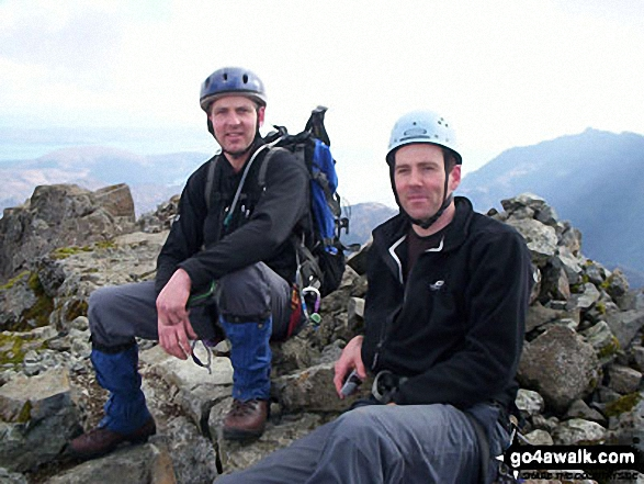 Roger and Peter on Sgurr nan Gillean