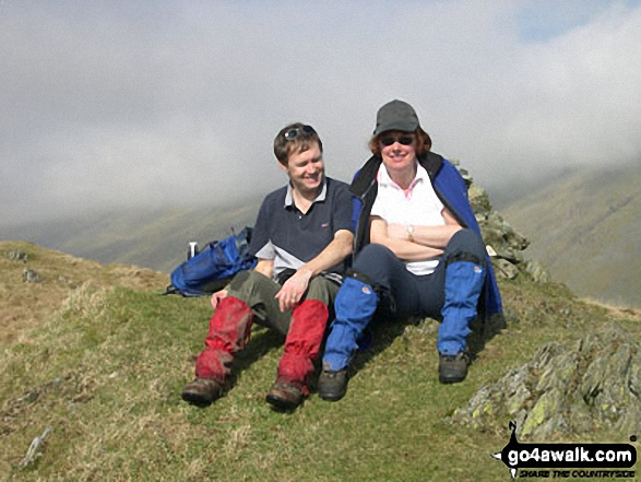 Sheila and Me on Troutbeck Tongue in The Lake District Cumbria England