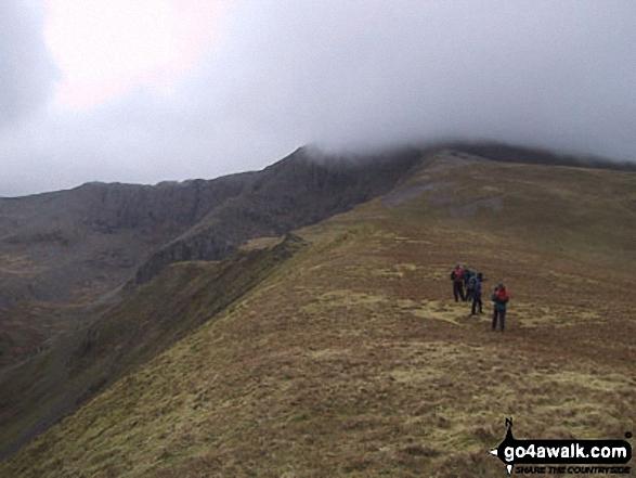 Climbing Foel Meirch and Carnedd Dafydd via Mynydd Du