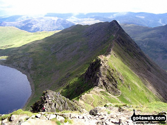 Red Tarn and Striding Edge from Helvellyn
