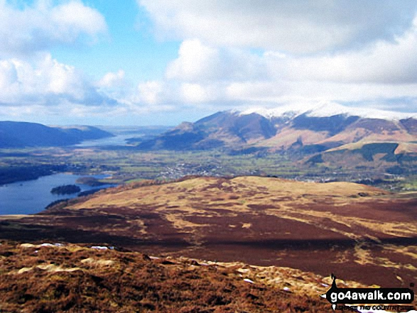 Keswick and Skidddaw from Bleaberry Fell