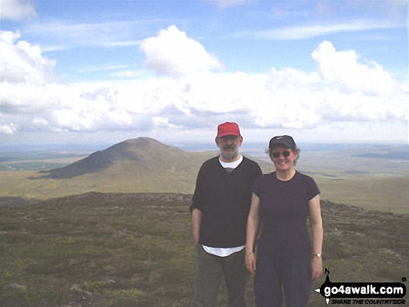 My wife and I on Ben Griam Mor walk Assynt and The Far North Highland Scotland walks