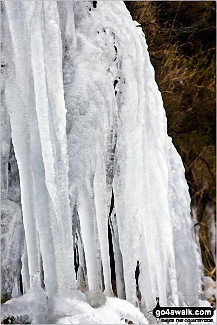 Frozen Pistyll Rhyd-y-meinciau waterfall