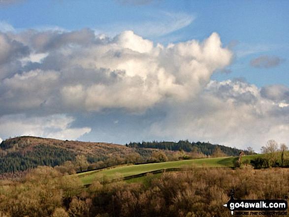Allt y Gader from Fferm Cefn Gaer near Llanfyllin