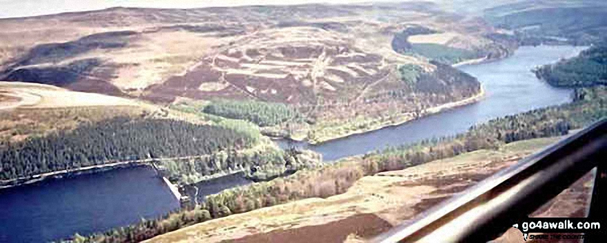 *Aerial Panorama Looking South East down Ladybower Reservoir
