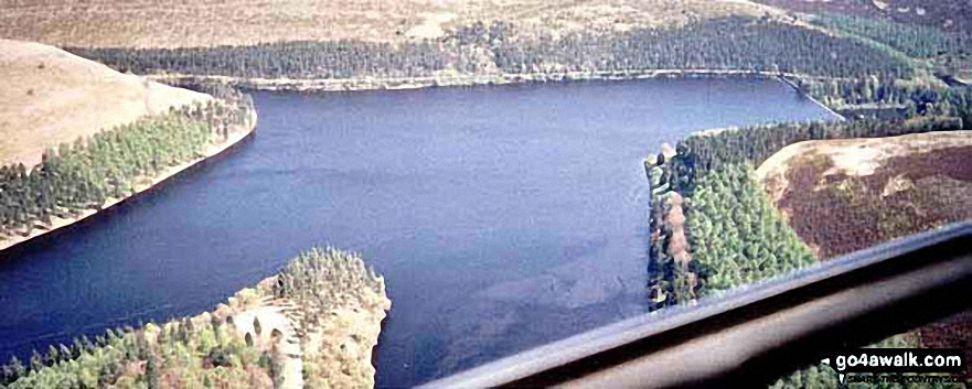 *Aerial Panorama looking East across Howden Reservoir