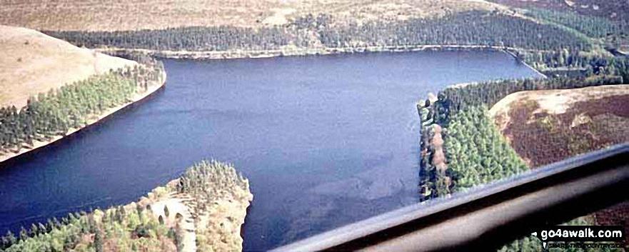 Aerial Panorama looking East across Howden Reservoir