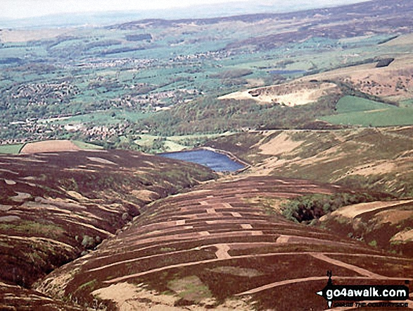 Aerial view looking West to Hurst Reservoir, Glossop