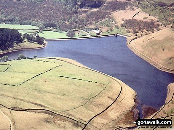 Aerial view of Kinder Reservoir, Hayfield