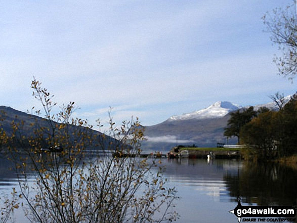 Snow capped Ben Lawers and Loch Tay from Kenmore