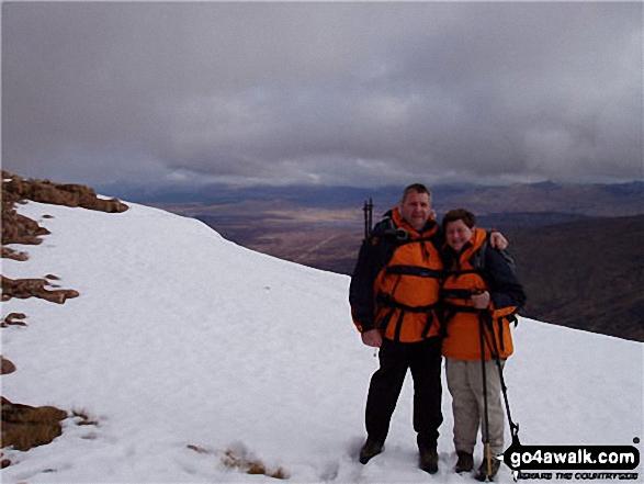 Myself and my wife Sue on Buachaille Etive Mor (Stob Dearg)