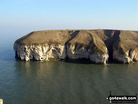 Walk ey112 Flamborough Head and North Landing from South Landing - Looking across Thornwick Bay, Flamborough Head