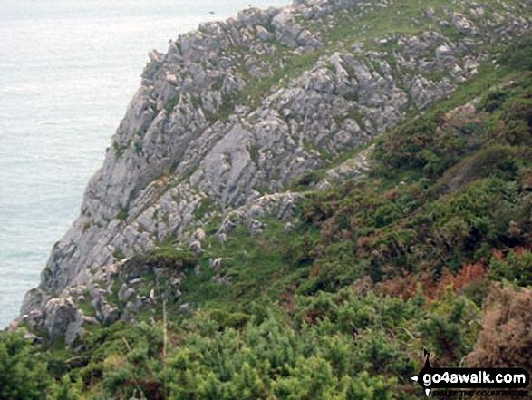 Pennard Cliffs at Pwlldu Head on the Gower Peninsula