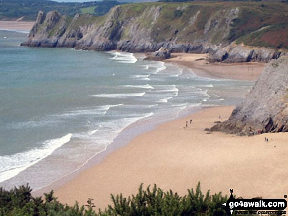 Threecliff Bay from Shire Combe, The Gower Peninsula