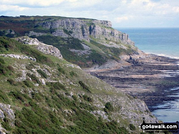 High Pennard and Pwlldu Head from Shire Combe, The Gower Peninsula