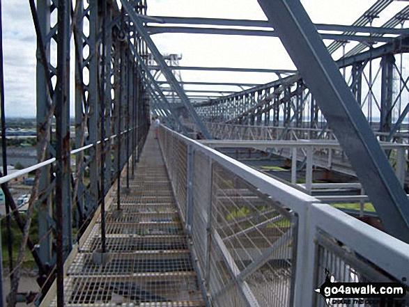 On the Transporter Bridge across the River Usk (Afon Wsyg) in Newport
