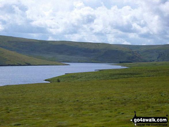 Drygarn Fawr from Caban-coch Reservoir