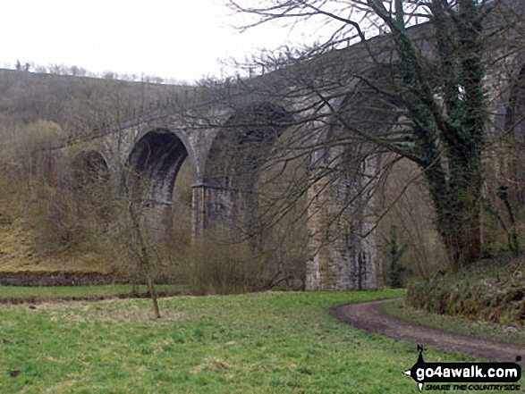 Monsal Head viaduct. Walk route map d230 Monsal Dale from Ashford in the Water photo