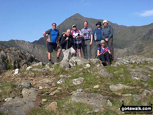 Moray Hillwalkers on the PYG Track up Mt Snowdon