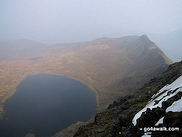 Red Tarn and Striding Edge from Helvellyn. Walk route map c220 Helvellyn via Striding Edge from Glenridding photo