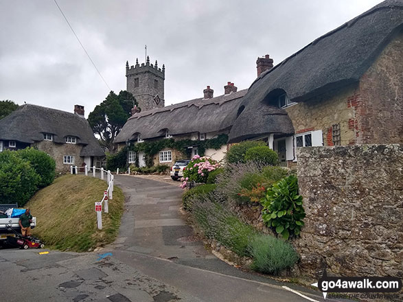 Thatched Cottages by Godshill church
