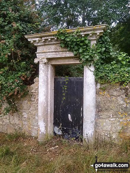 The back door into Appuldurcombe House grounds